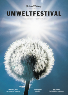 Titelseite der Sonderbeilage der Berliner Zeitung zum Umweltfestival 2016