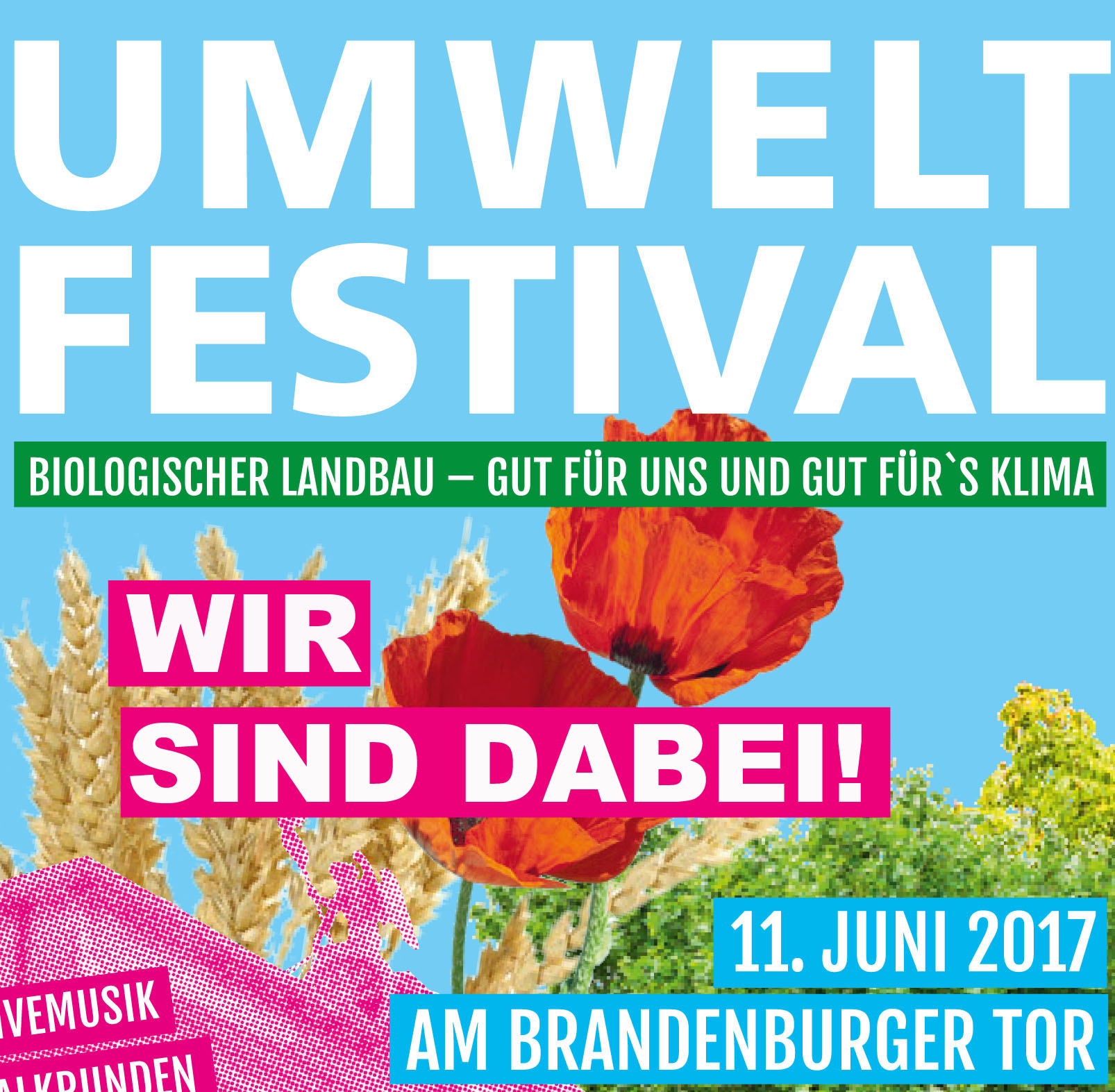 Banner Umweltfestival 2017